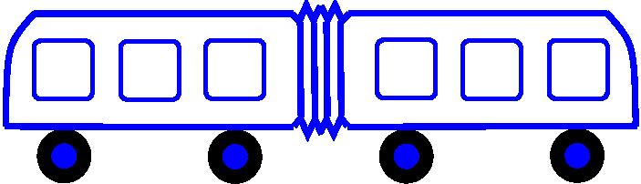 simetričen avtobus (iz slike se ne vidi kje je nos in kje zadek, pa se vseeno da ugotoviti prav to)